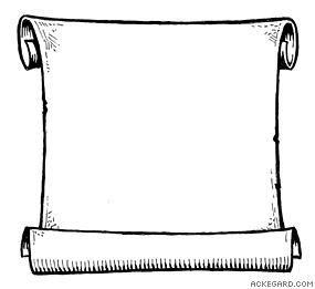 Open clip art book. Awards clipart scroll