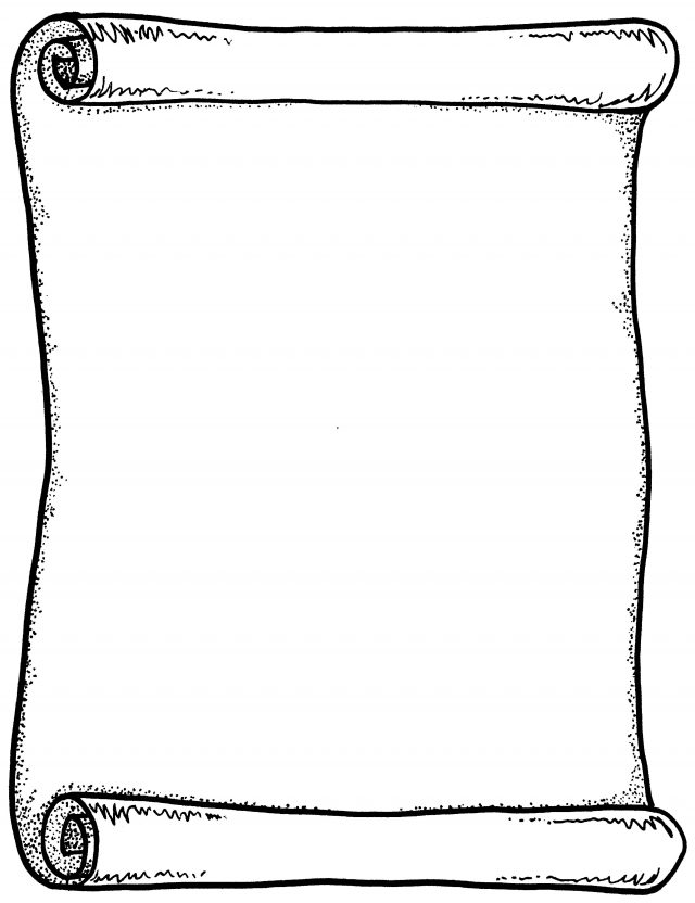 Template with lines ideal. Scroll clip art