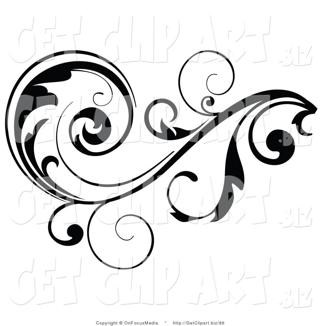 Clip art of a. Filigree clipart decorative scroll