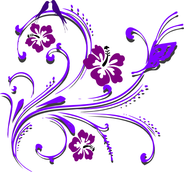 Butterfly wedding . Purple clipart scroll