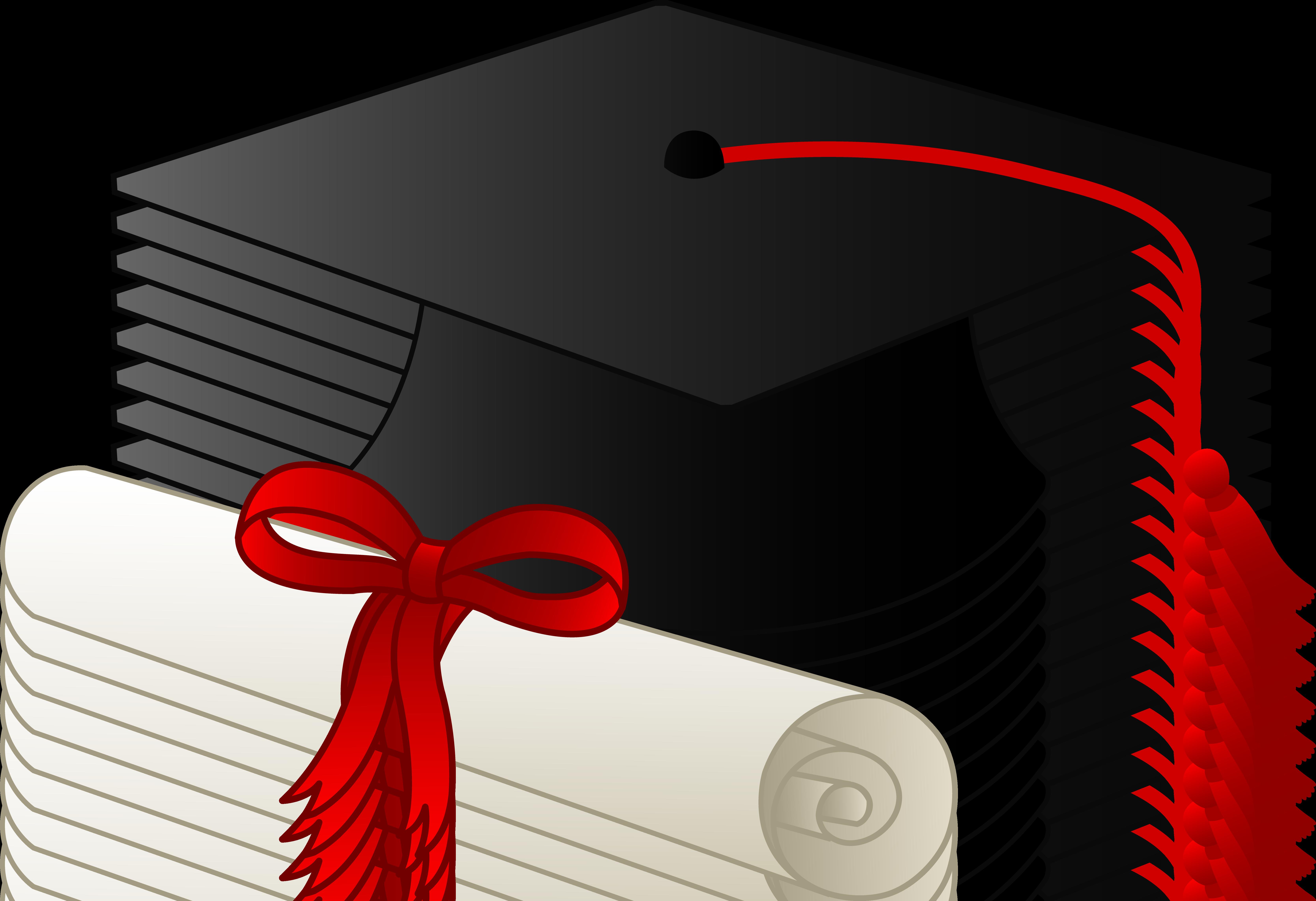 Graduation clip art borders. Hat clipart school