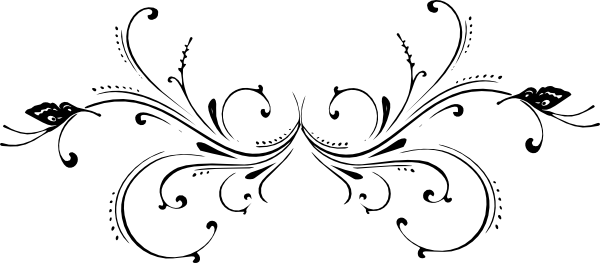 Scroll clip art black and white. Butterfly at clker com