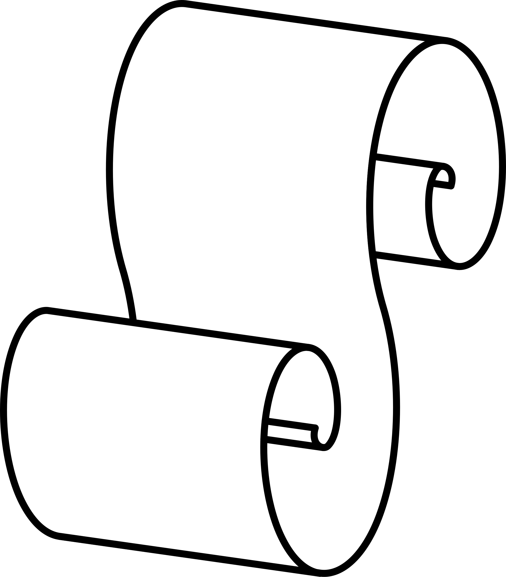 Scroll clip art black and white. Paper drawing at getdrawings