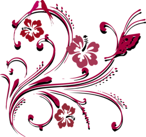 Butterfly at clker com. Scroll clip art border