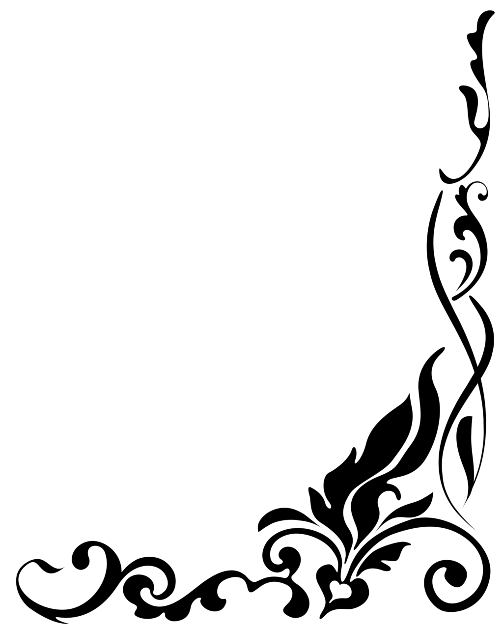 Funeral clipart black and white. Ornamental single line border