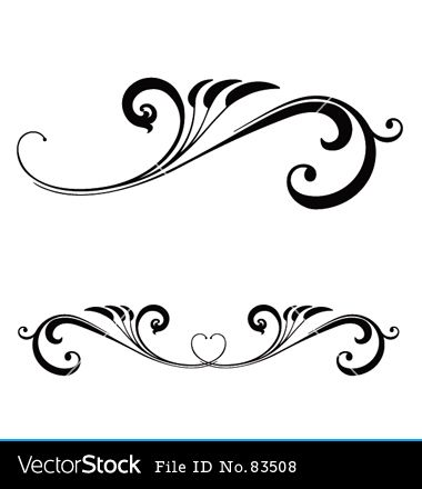 Scroll clipart calligraphy. Designs cliparts scrolls