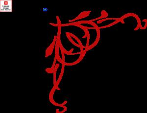 Scroll clip art calligraphy. Dark red heart border