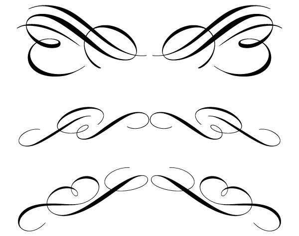 Free calligraphy cliparts download. Flourish clipart calligraphic
