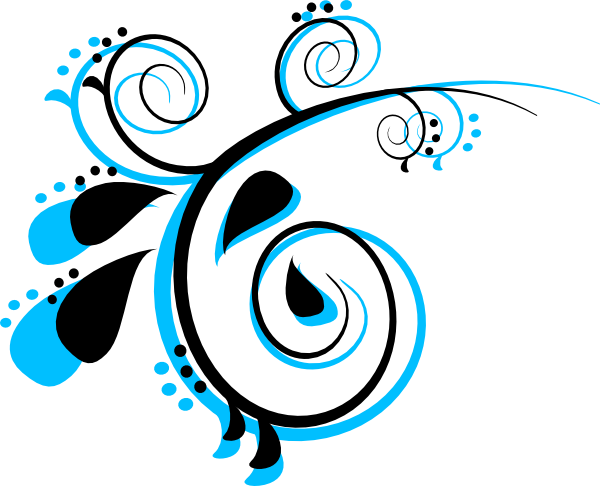Black and peacock at. Scroll clip art decorative