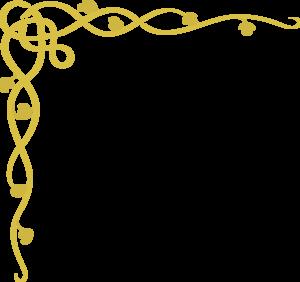 Scroll clip art decorative. Gold clipart