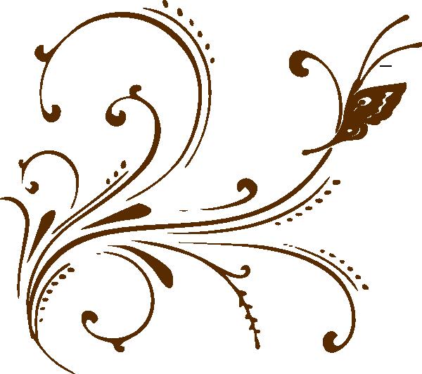 Scroll clip art decorative. Scrolls butterfly vector online