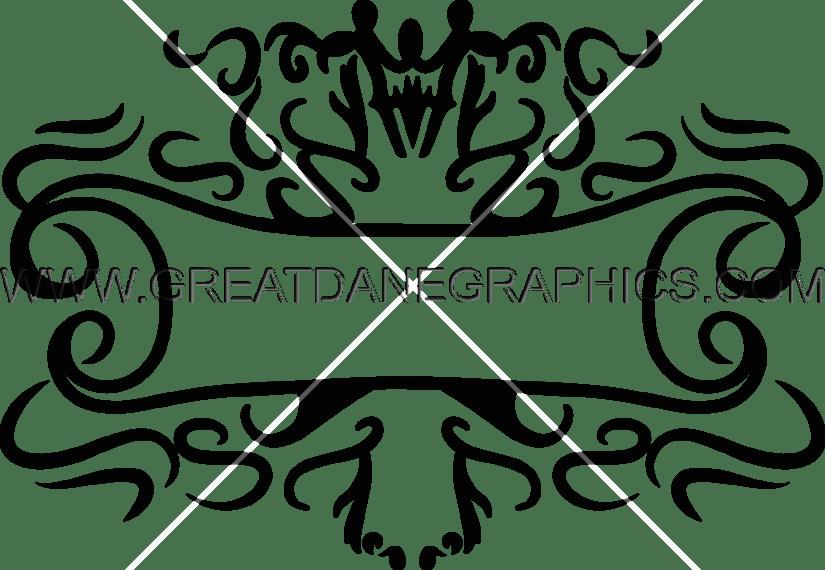 Scroll clipart ornamental. Decorative production ready artwork