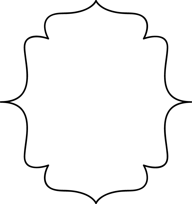 Black and white borders. Scroll clip art decorative bracket