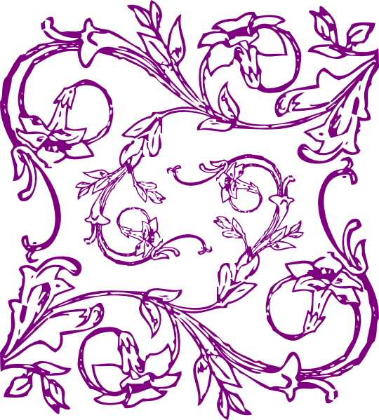 Purple clipart filigree.  images of template