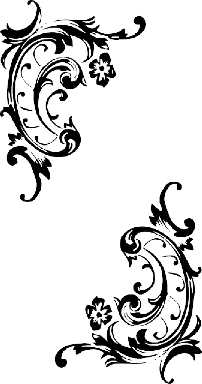 Baroque pattern style flourish. Scroll clip art filigree