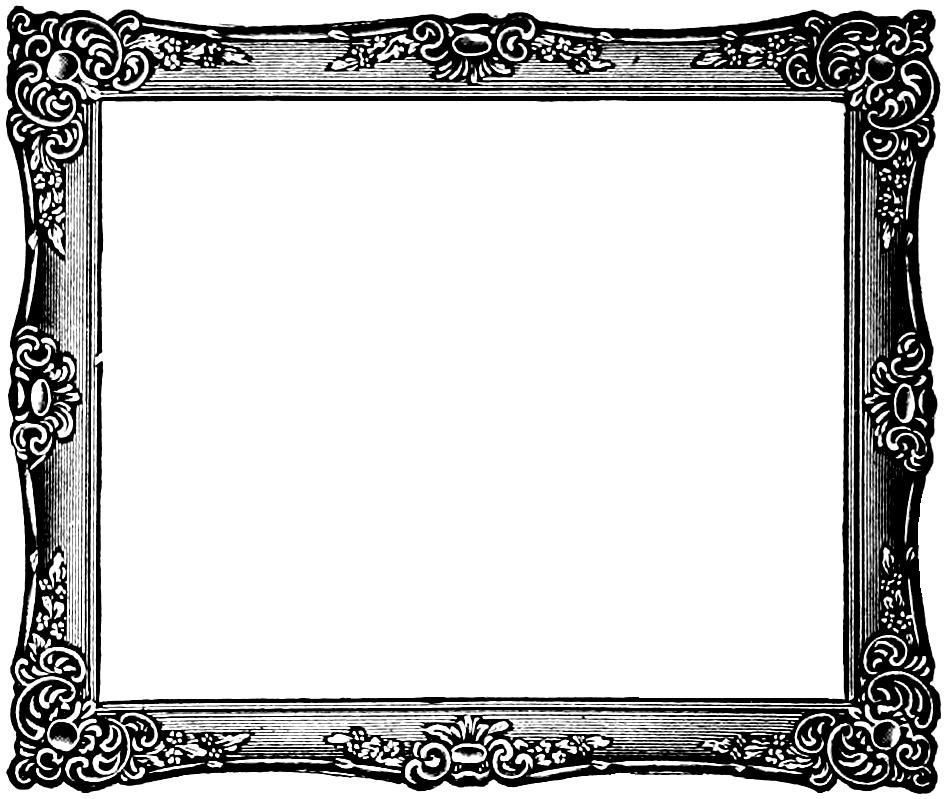 Scroll clip art frame. Vintage clipart panda free