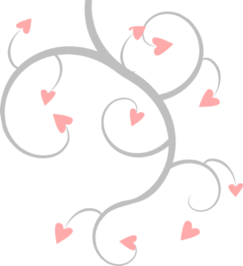Pink and grey at. Scroll clip art heart