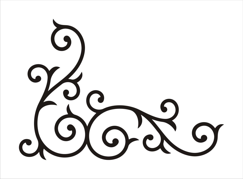Corner clipart template. Scrollwork free clip art