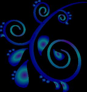 Blue clipart . Scroll clip art swirl