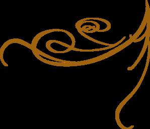 Scroll clip art swirl. Decorative gold clipart panda