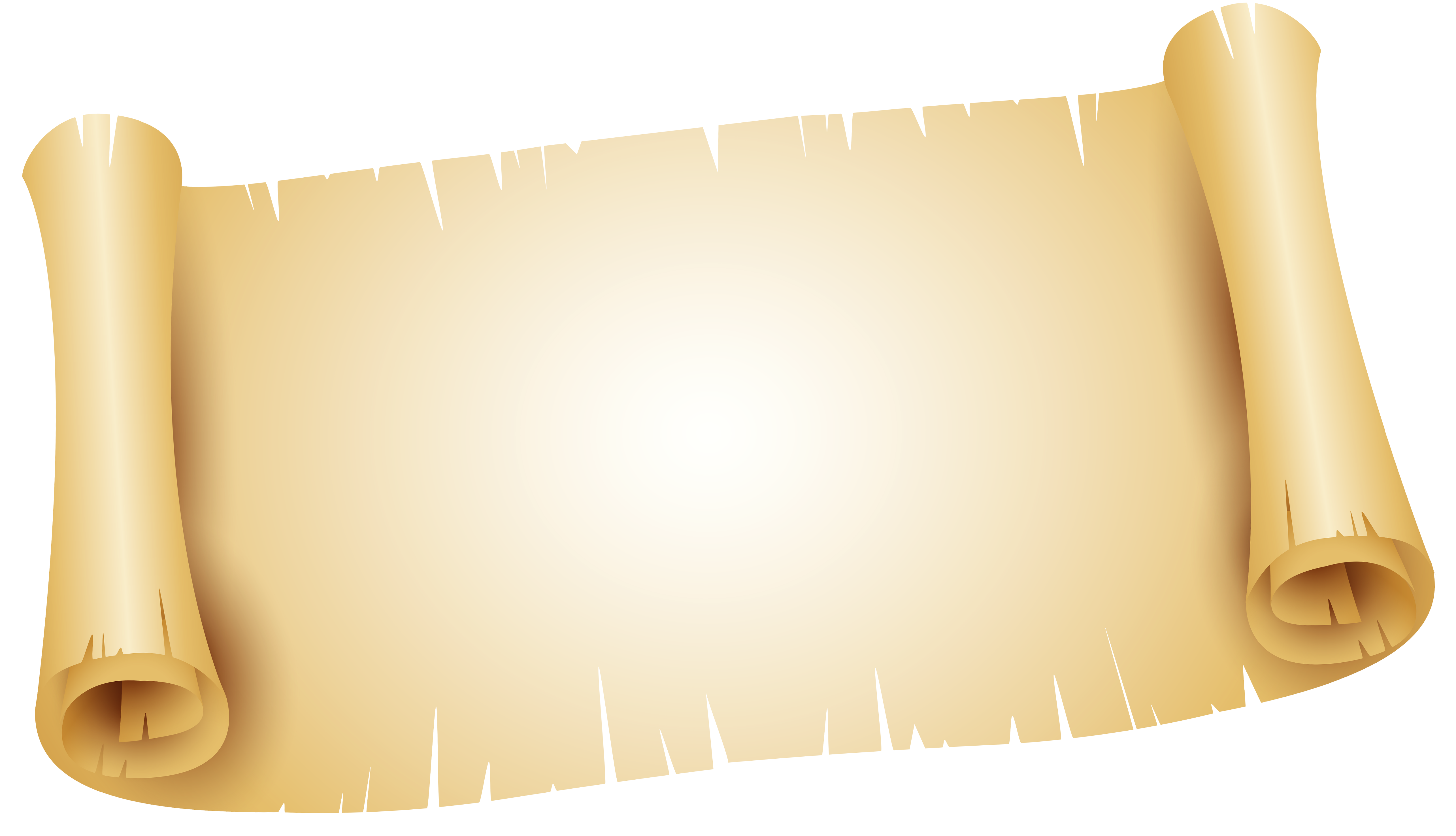 Scrolled paper png image. Scroll clipart ancient scroll