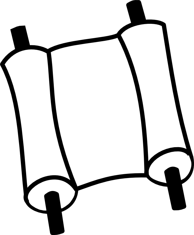 Chrismon large png image. Scroll clipart bible