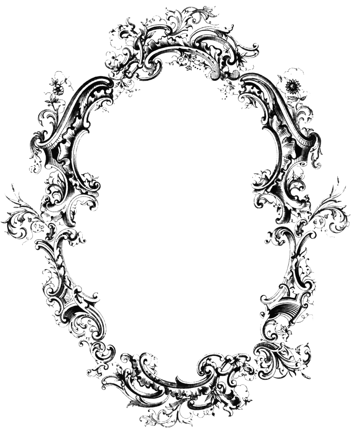 Embossed clipart designs . Victorian border png