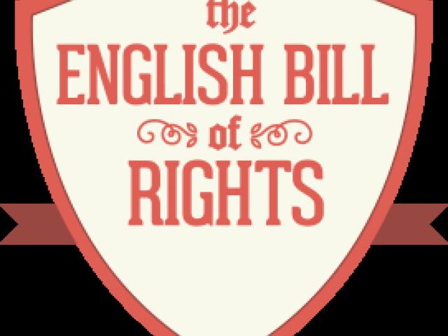 bill english right. Scroll clipart declaration rights