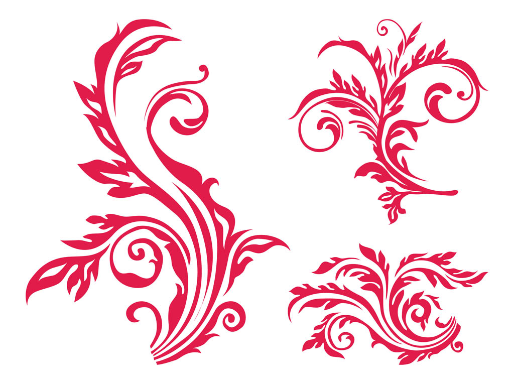 Scroll clipart floral scroll. Free flower cliparts download