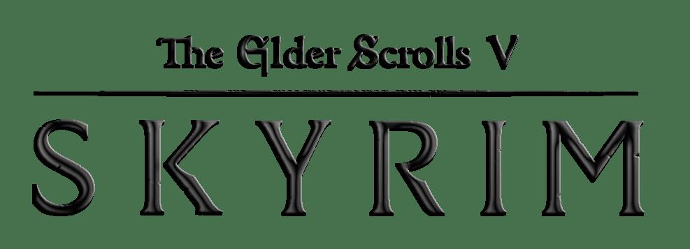 Elder scrolls skyrim transparent. Scroll clipart logo