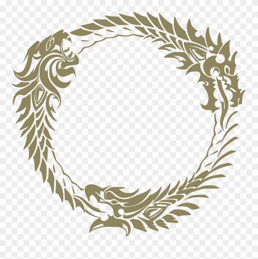 Scroll clipart logo. The elder scrolls eso