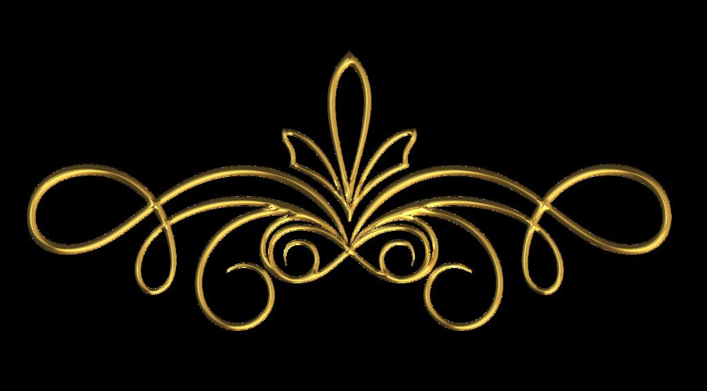 Scroll clipart ornamental. Gold clip art wedding