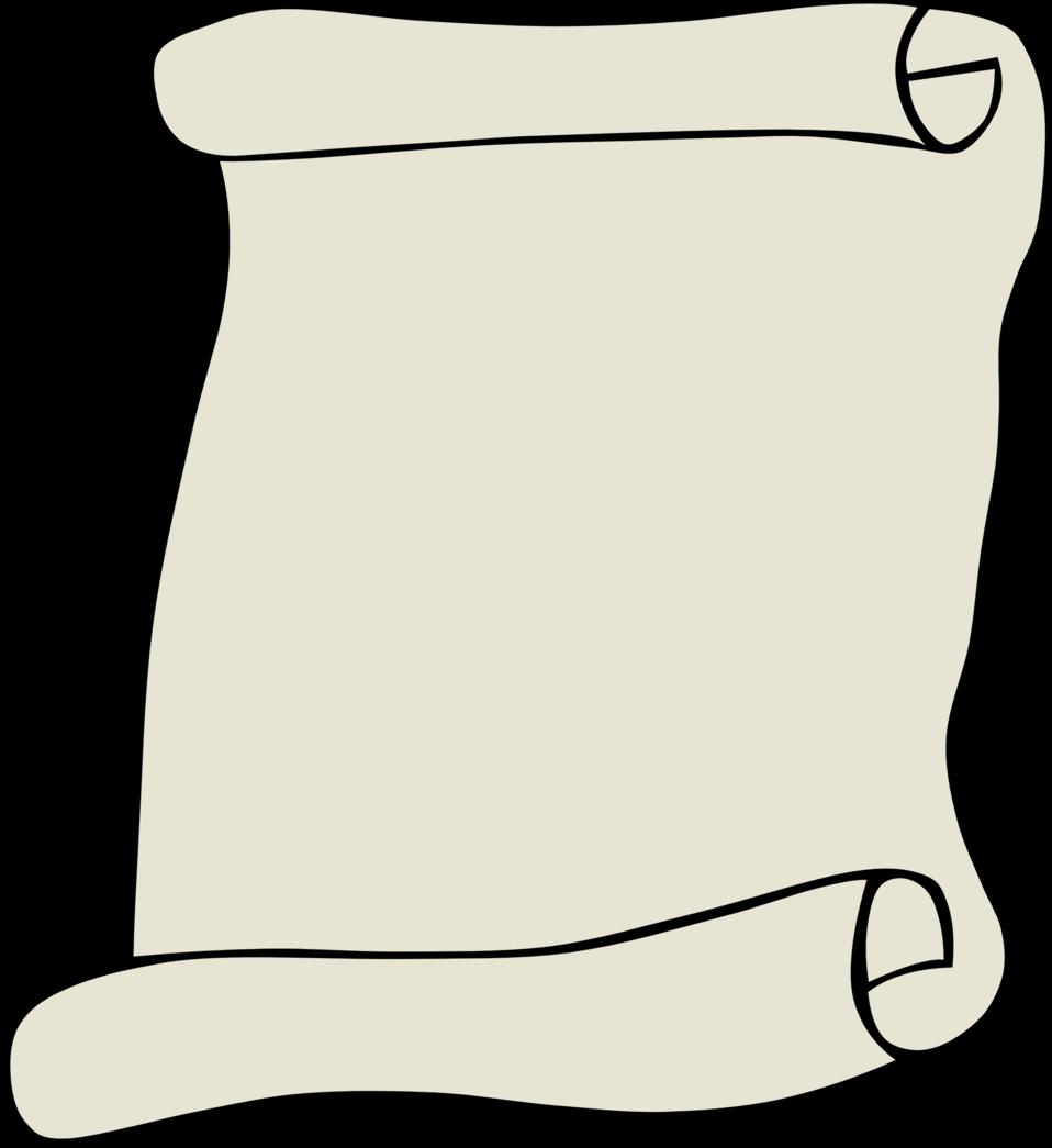 Scroll clipart parchment. Public domain clip art