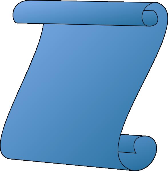 Blue gradient clip art. Scroll clipart vector