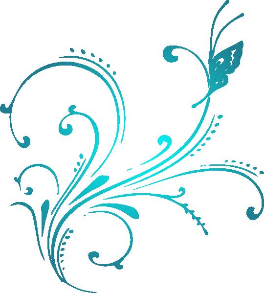 Aqua . Scroll clipart vector