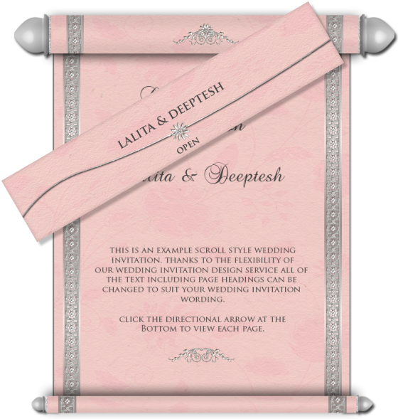 All style email card. Scroll clipart wedding indian