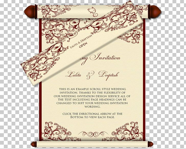 Scroll clipart wedding indian. Invitation india hindu png