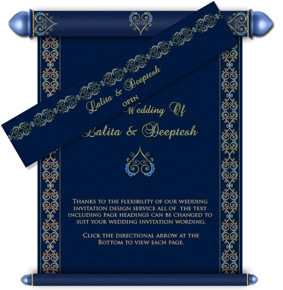 Royal email card design. Scroll clipart wedding indian