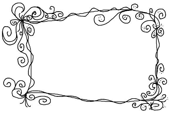 Scroll frame png. Hand drawn bullet journal