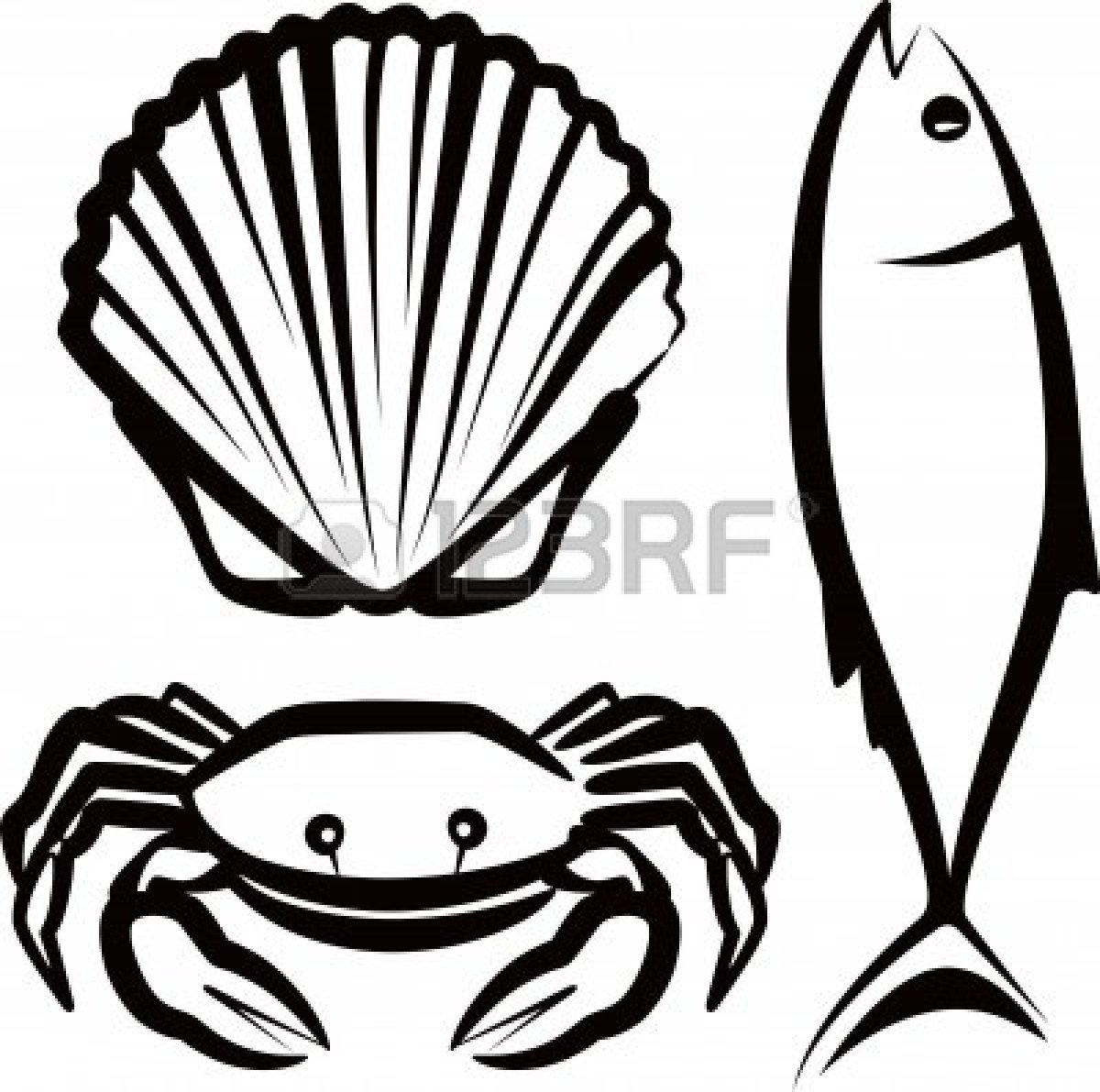 Seafood clipart. Pictures panda free images