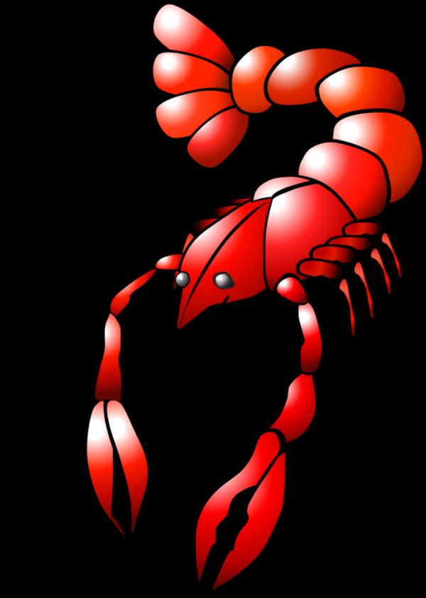 Seafood clipart animated. Crayfish cartoon vector clip