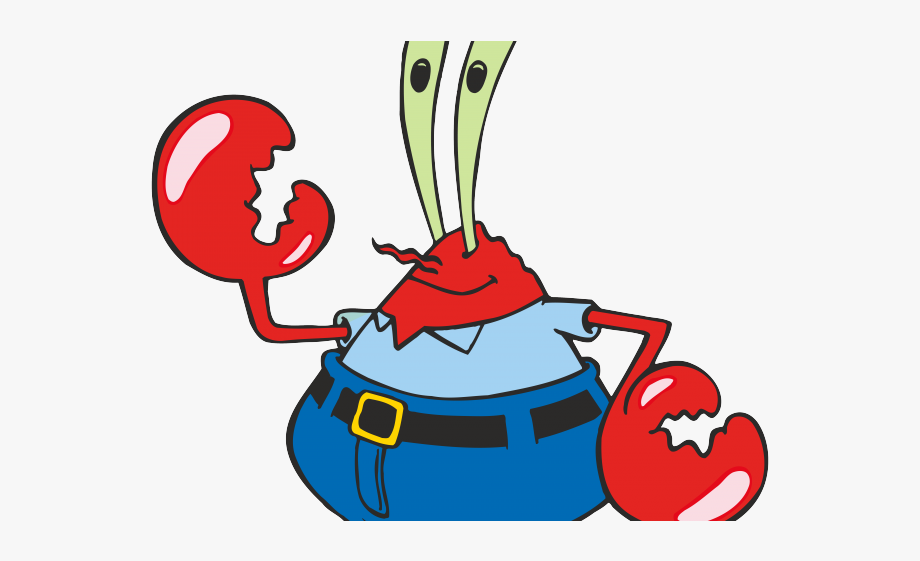 Seafood clipart mr crab. Spongebob krabs free
