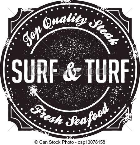 Vector of classic menu. Seafood clipart surf and turf