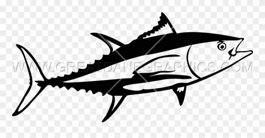 Seafood clipart tuna fish. Svg freeuse download black
