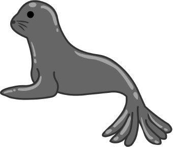 Clip art free panda. Seal clipart
