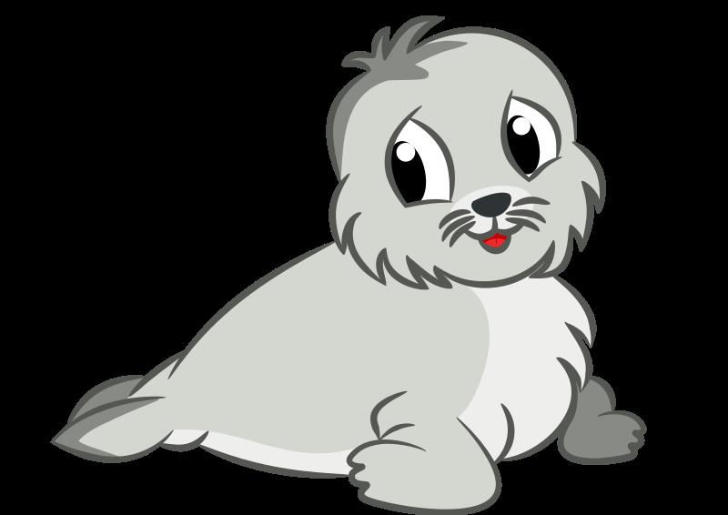 Drawing medium image png. Seal clipart baby seal