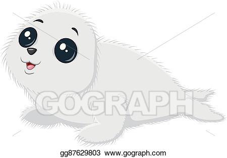 Seal clipart baby seal. Vector art cartoon eps