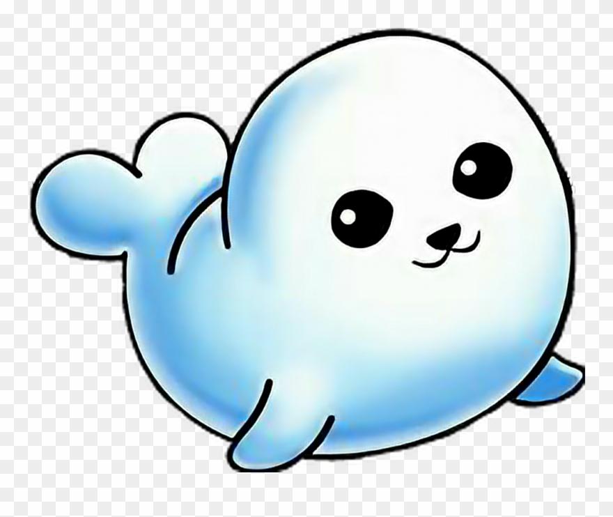 Sticker cute cartoon . Seal clipart baby seal