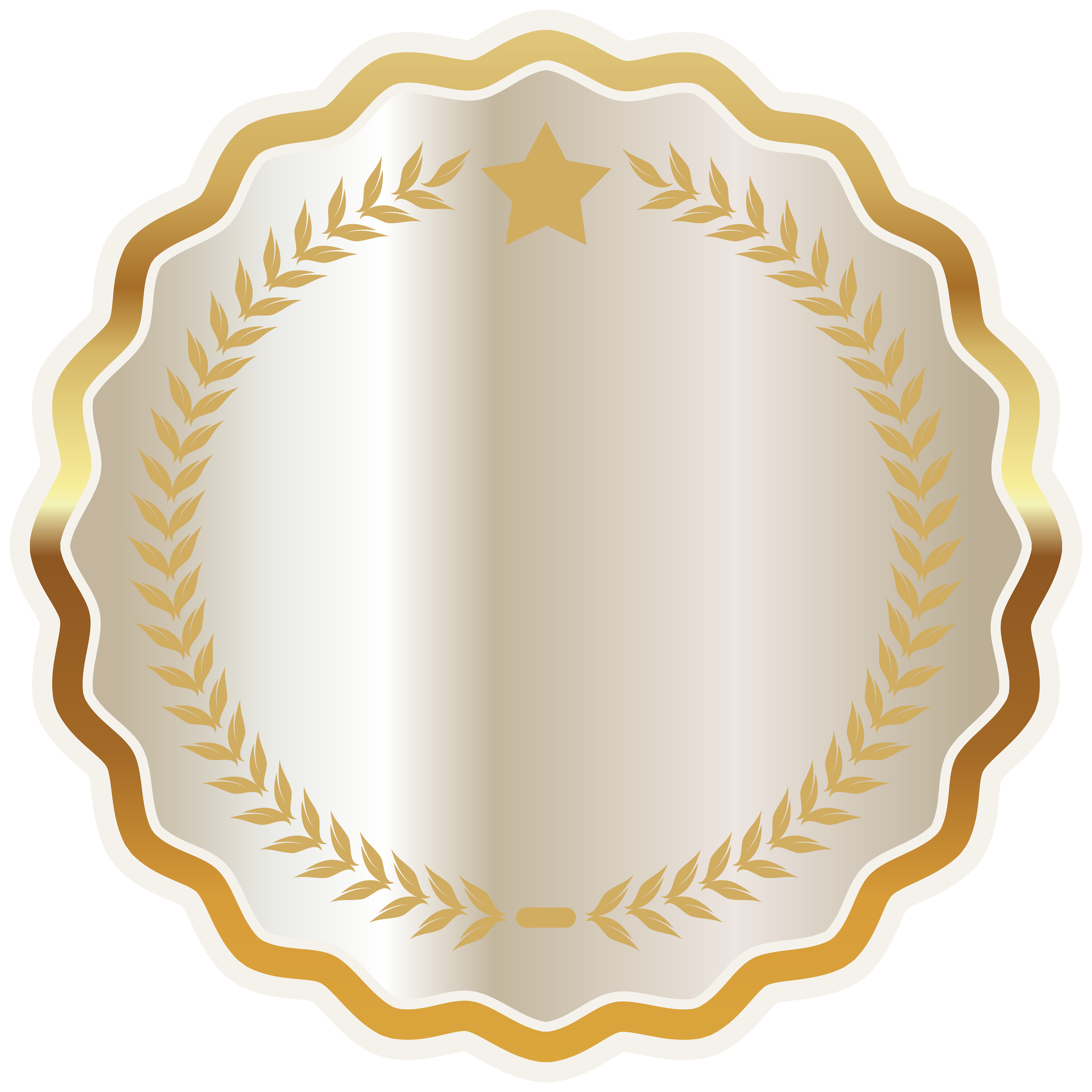 Seal clipart easy. White badge png image