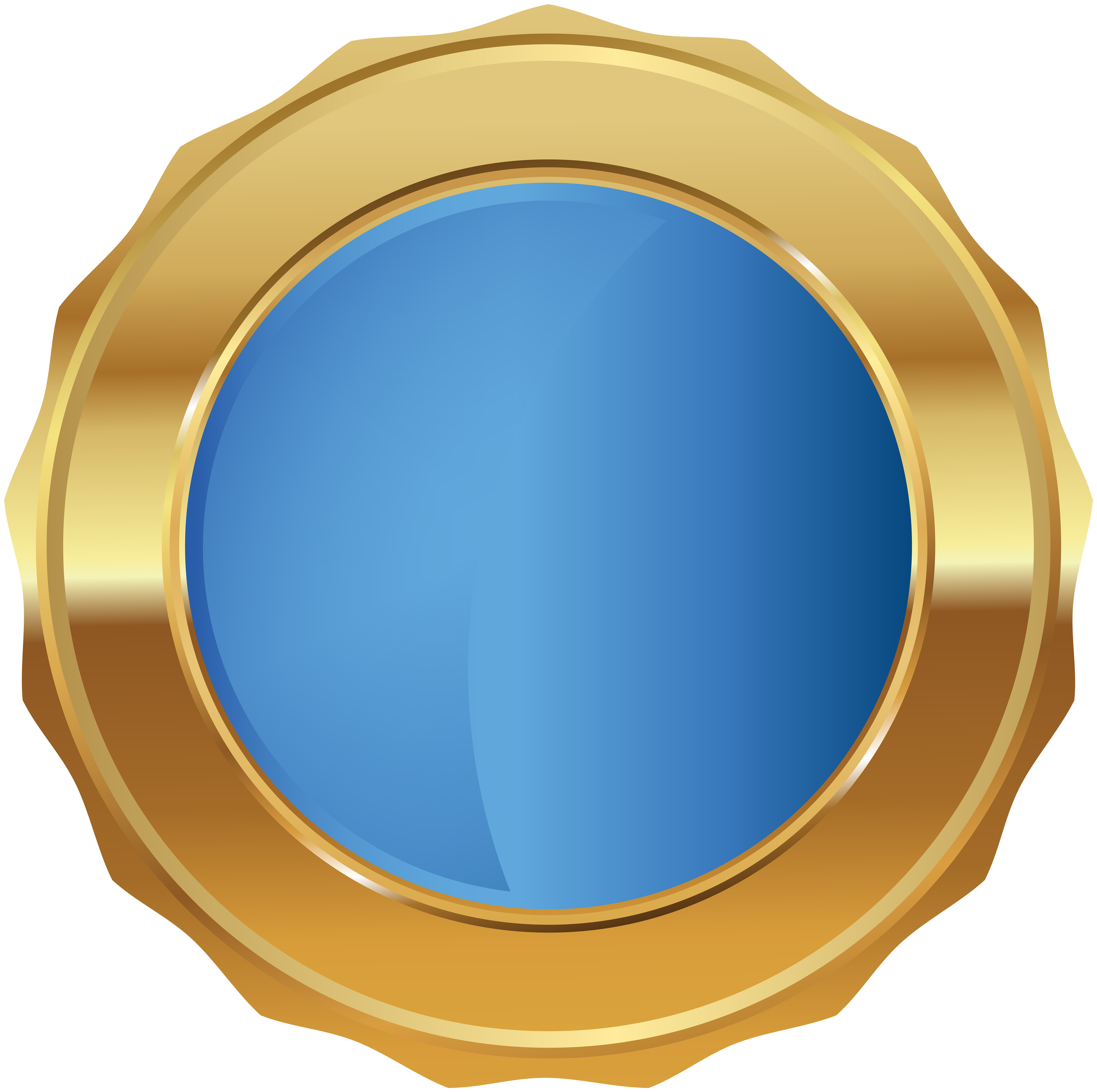 Seal clipart happy. Gold blue badge png